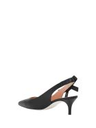 Pollini Slingback Pumps With Logo Taping - Nero