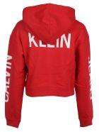 Calvin Klein Cropped Hoodie - Racing Red