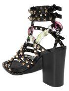 Ash Studded Floral Sandals