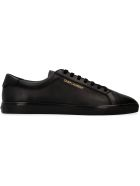 Saint Laurent Brooklyn Leather Low-top Sneakers - black