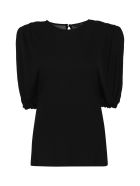 Versace Draped Jersey Top - black