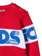 GCDS Red Cotton Sweatshirt - Rosso