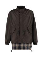MSGM Nylon Windbreaker-jacket - black