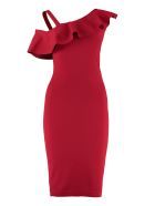 D.Exterior Jersey Sheath Dress - red