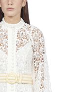 Zimmermann Empire Broderie Lace Midi Dress - Ivory floral
