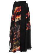 Sacai Skirt Pendelton - BLACK/MULTICOLOURED
