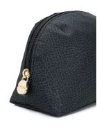 Borbonese Small Zipped Make-up Bag - Nero