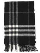 Burberry Mu Giant Check Scarf - BLACK