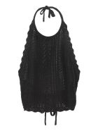 Pinko Bocce Knitted Top - black