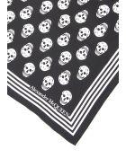 Alexander McQueen Skull Silk Twill Scarf - BLACK IVORY (Black)