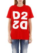 Dsquared2 Maxi D2 Print T-shirt - RED (Red)