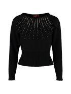 Max Mara Studio Ghianda Long-sleeved Crew-neck Sweater - black