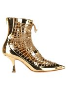 Y/Project Lace-up Ankle Boots - GOLD