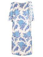 Antonio Marras Silk Dress - White Blue