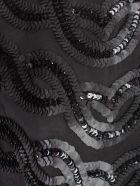 SEMICOUTURE Dress Agata Pencil Paillettes - Nero