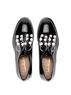 Coliac Derby Coliac Black Leather Shoes With Pearls - Black