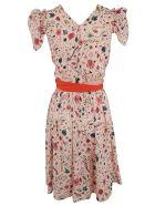 Elisabetta Franchi Celyn B. Elisabetta Franchi For Celyn B. Tied Waist Dress - Multicolor