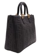 Fendi Leather Tote Bag - Black