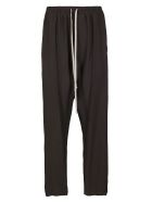 Rick Owens Black Viscose Blend Track Pants - Black