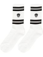 Alexander McQueen Cotton Sport Socks - White