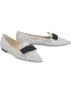 Jimmy Choo Glitter Ballet Flats - silver