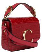 Chloé Mini Shoulder Bag - Dusky red