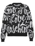 Love Moschino Cotton Sweater - SHOE LACE BLACK