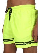 GCDS Logo Swimsuit - Giallo