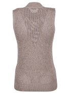 Jil Sander Navy Speckled Knitted Tank Top - Basic