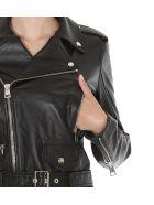 Manokhi Biker Jacket - Black