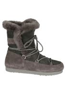 Moon Boot Logo Patch Boots - Grigio
