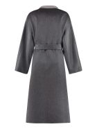 Agnona Cashmere Long Coat - grey