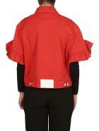 MSGM Ruffled Sleeve Short Jacket - Red