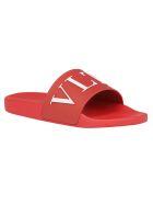 Valentino Garavani Slides - Rosso/bianco