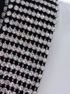 Haider Ackermann Byron Shirt Cotton Popeline Neck Crystal Hand Embroidery - Bianco