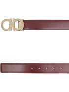 Salvatore Ferragamo Reversible Leather Belt - Black and brown
