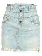 AMIRI Amiri Denim Mini Skirt - LIGHT BLUE