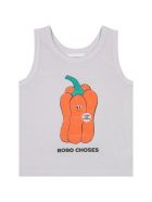 Bobo Choses Ivory Tank Top For Kids With Pepper - Ivory