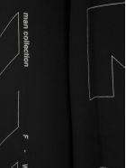 Off-White Off White Unfinished Logo Print Sweatshirt - BLACK