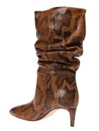Paris Texas Python Print Boots - Cognac