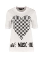 Love Moschino Printed Cotton T-shirt - White