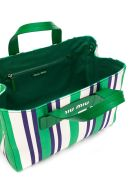 Miu Miu Striped Tote - Verde