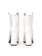Via Roma 15 Ankle Boot In White Leather - BIANCO