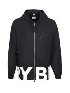 Burberry Hooded Windbreaker - black