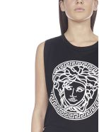 Versace Medusa Print Cotton Tank Top-dress