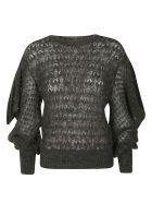 Alberta Ferretti Lace Knitted Jumper - Grey
