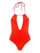 GCDS Gcds Embellished One-piece Swimsuit - ORANGE