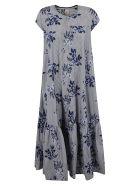Antonio Marras Floral Embroidery Long Dress