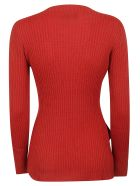Y's Boat Neck Sweater - Red