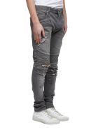 Balmain Biker Distressed Jeans - Grigio